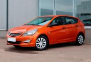 Hyundai Solaris 2014 оранжевый фото 1