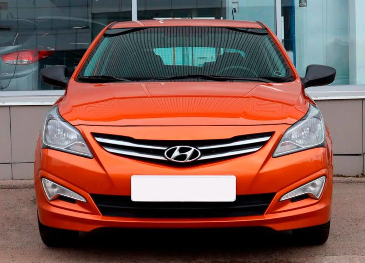 Hyundai Solaris 2014 оранжевый фото 3
